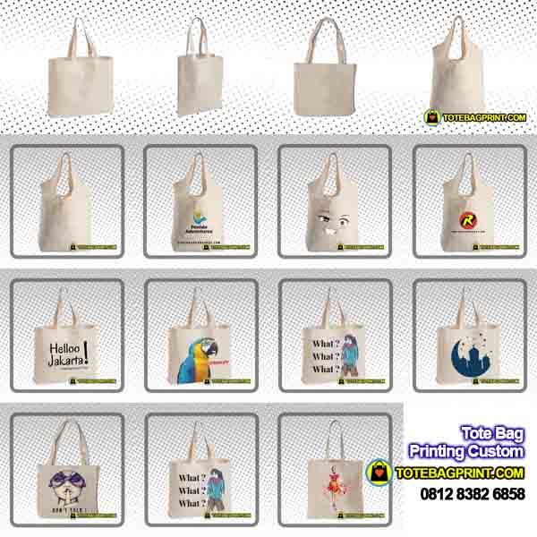 Konveksi Bikin Tote Bag Kanvas Tote Bag Blacu Tote Bag Polos Tote Bag Seminar Tote Bag Promosi Tote Bag Jakarta Bandung Bekasi Depok Murah